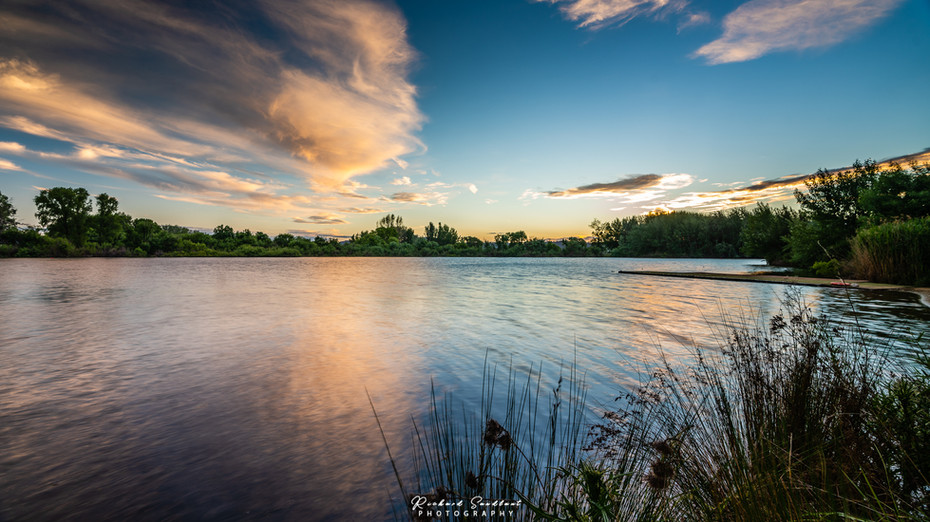 Pastel cloud reflection