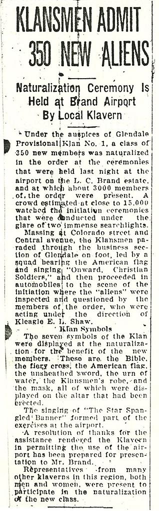 Klansmen Admit 350 (1924, Sept 2)