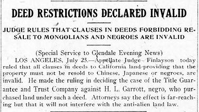 Deed restrictions GEN, p 1(1919 Jul 25)-