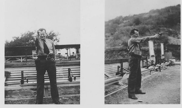 Hans Diebel at shooting range