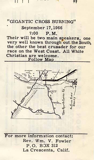 Invitation to Cross Burning BACK (1966,