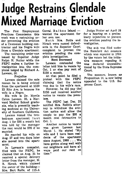 Judge restrains Glendale (1967, Apr 20)