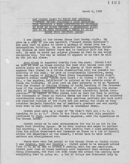 Diebel Report from Spy #3