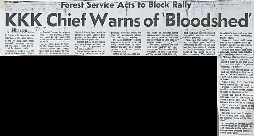 KKK Chief Warns Bloodshed (1966, Sep14).
