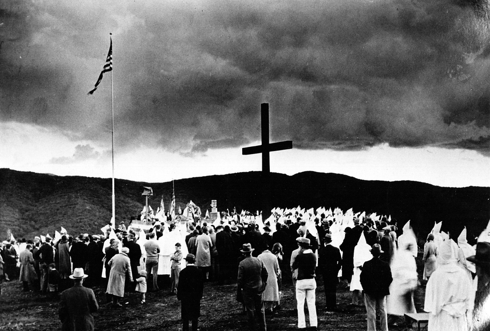Ku Klux Klan Cross Dedication, 1931