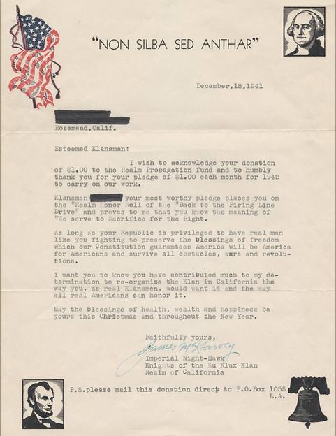 Donation acceptance letter
