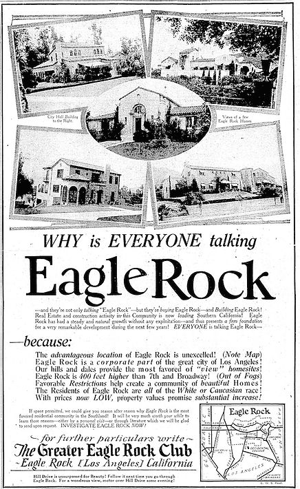 Eagle Rock add with race restrictions