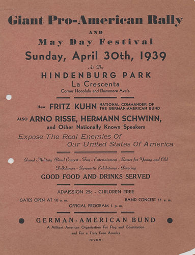 Pro-American Rally, 1939