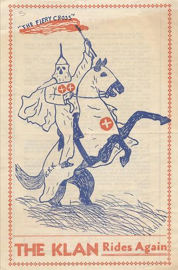 The Klan rides again handbill