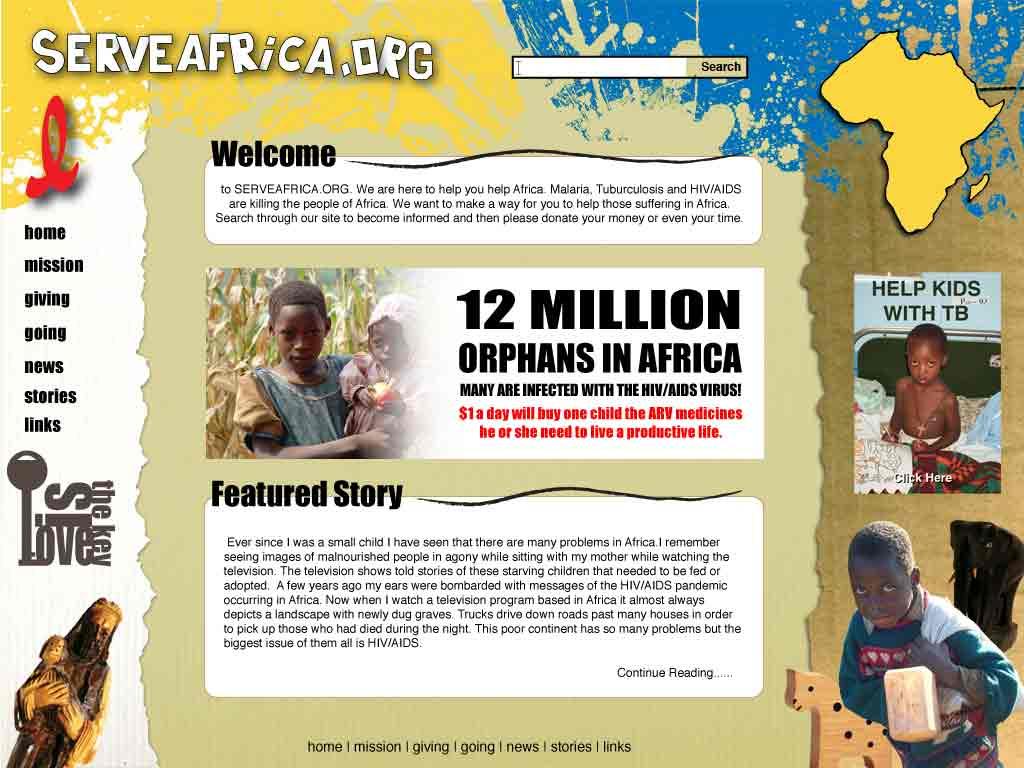 ServeAfrica.org-Site