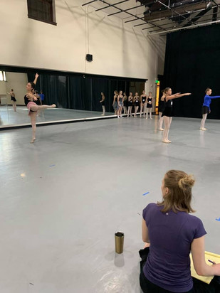 rehearsal at Joffrey Colorado Springs 2019
