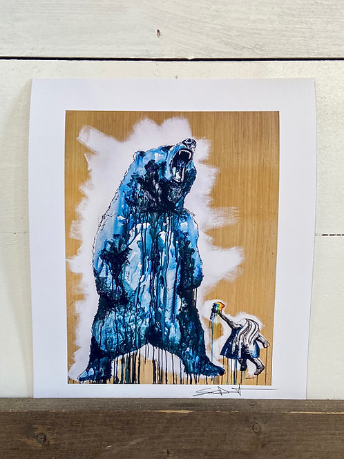 Ice Cream Bear Print 11x17