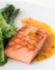 Braseado Salmon selvagem
