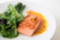 salmon and salad plate
