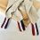 Thumbnail: LOT DE 3 TORCHONS lin Bleu Blanc Rouge & Pochette
