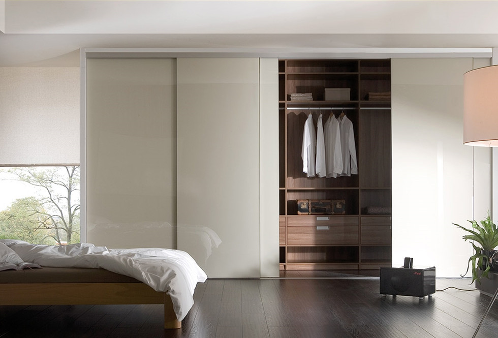 Bianco with Walnut interior-Sliding Ward