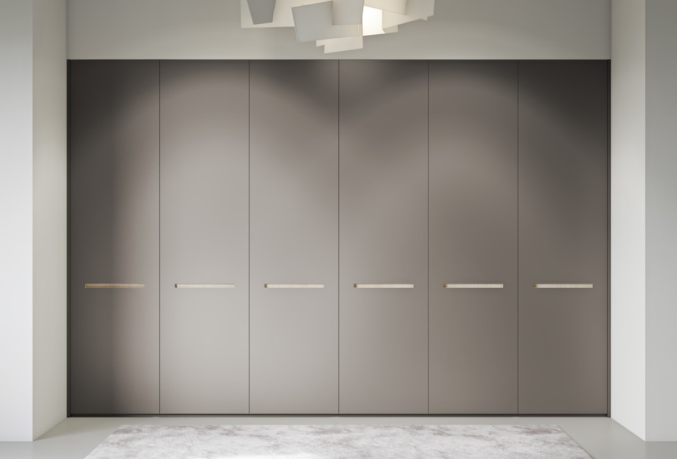 Bespoke Lacquer Wardrobe Built in handle