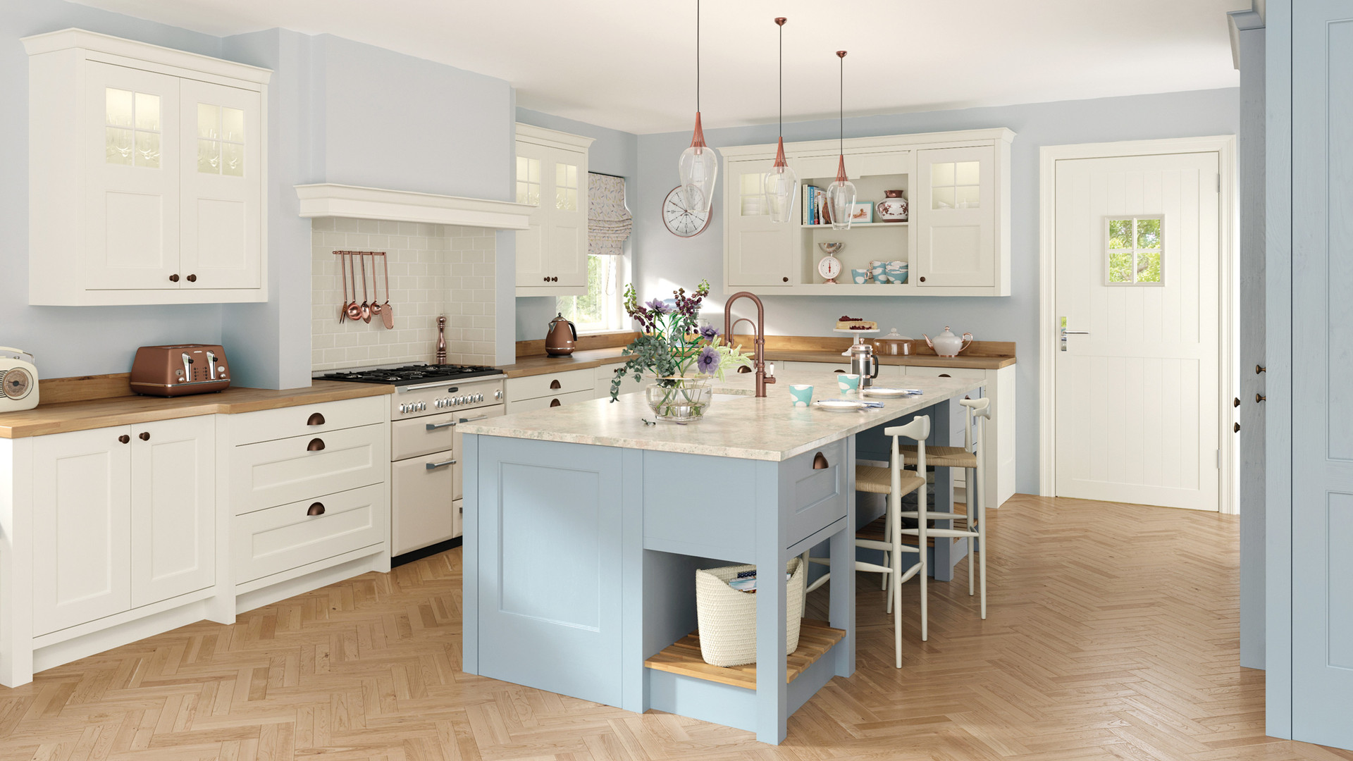 Wakefield Porcelain and Pantry Blue