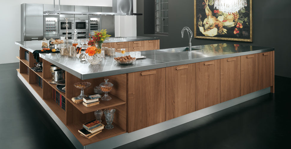 Alta Walnut with Granite and Stainless Steel worktop