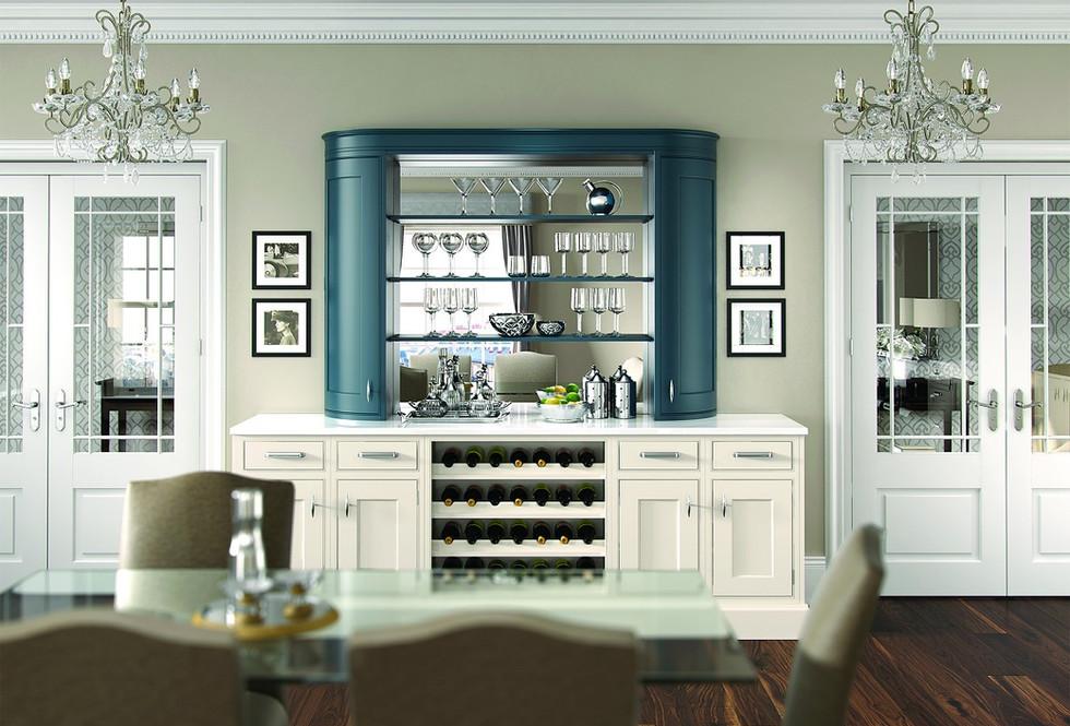Burlington Blue and Ivory