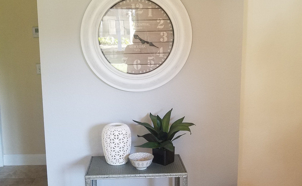 entryway after staging a vacant home