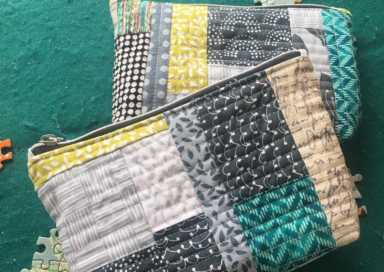 Quilt as you go Small Pouches