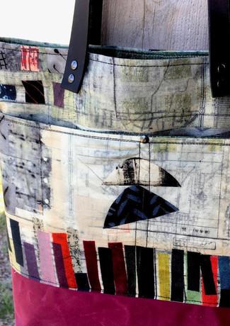 Wax & Wool Tote, Pattern by Noodlehead.j