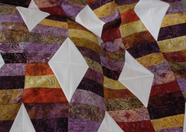 Batik Jelly Roll Lap Quilt
