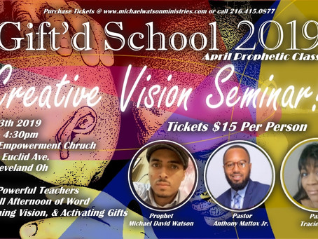 The Creative Vision Seminar! Sat. April 13th