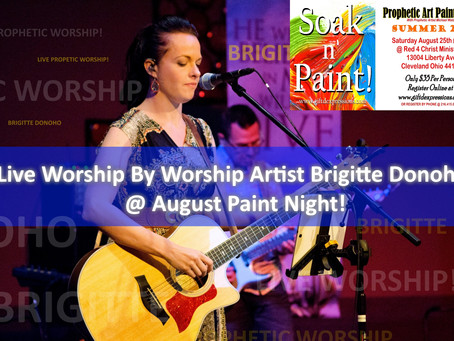 Soak N' Paint This Saturday! Get your Tickets! Live Worship   Limited Seating