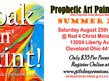 Soak N' Paint This Saturday! Get your Tickets! Live Worship | Limited Seating