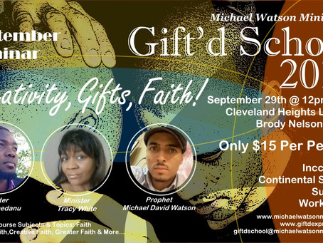 This Weekend! | Creativity, Gifts and Faith & Prophetic Activation