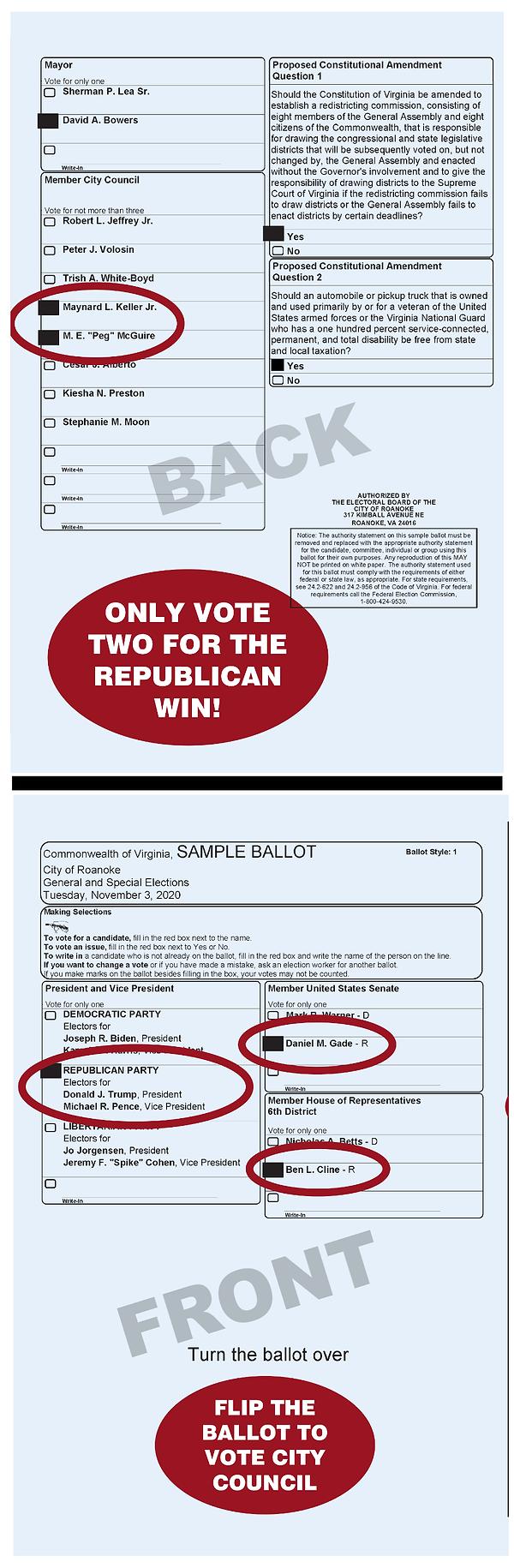 2020 Roanoke City Republican Sample Ball