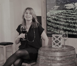 Sheri and Wine Barrel