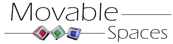 Movable Spaces logo. Movable Spaces is a family owned and operated business which sell and manufactures TV Lifts, Hidden Storage solutions, Lift Desks, Mobile TV units, and more!