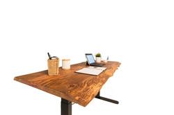 Custom reclaimed wood lift desk