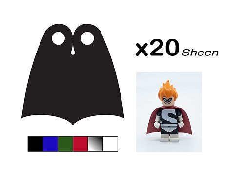 """Pack of 20 Pointed Capes - """"Sheen"""""""