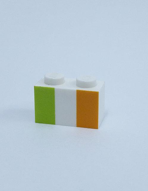 Flag of Republic of Ireland - printed brick