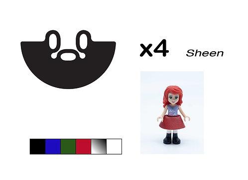 "Pack of 4 Mini-doll Skirts - ""Sheen"""