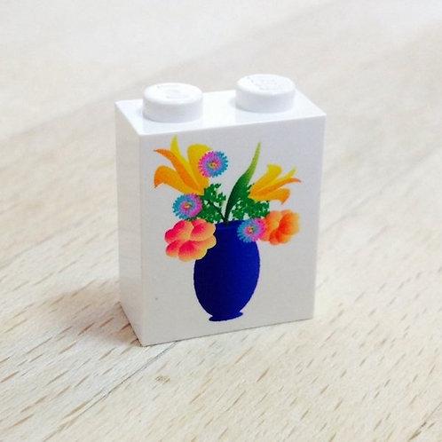 Flower vase printed brick