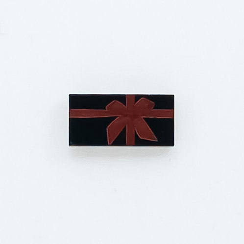 Present with bow (black) - printed tile