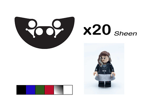 "Pack of 20 Miniskirts - ""Sheen"""