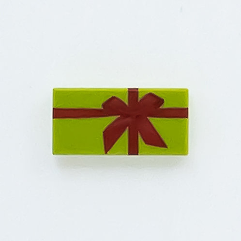 Present with bow (lime) - printed tile