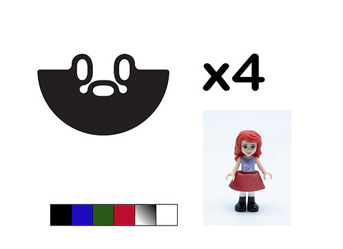 Pack of 4 Mini-doll Skirts - DURABLE