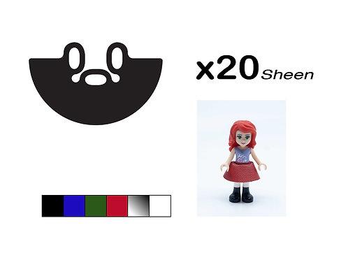 "Pack of 20 Mini-doll Skirts - ""Sheen"""