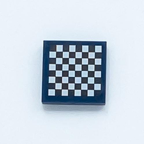 Chess board (dark blue) - printed tile