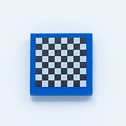 Chess board (blue) - printed tile