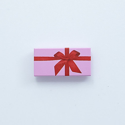 Present with bow (bright pink) - printed tile
