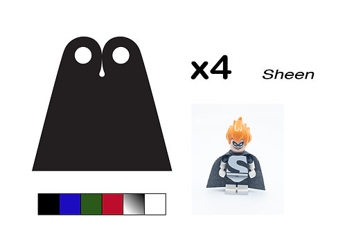 """Pack of 4 Straight Capes - """"Sheen"""""""