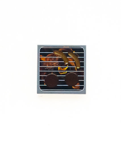 BBQ grill tile 2x2- printed tile